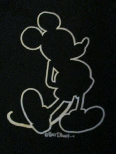 Vintage Disney MICKEY MOUSE with Silhouette of Mickey Mouse (XL) T-Shirt B