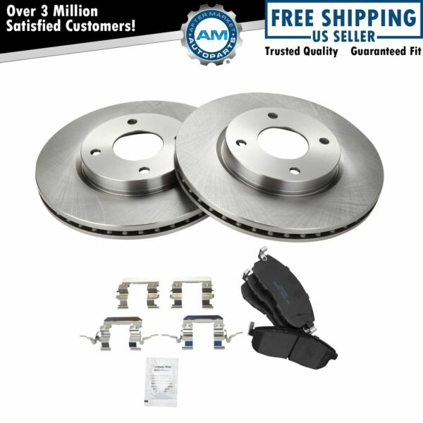 Nakamoto Front Premium Posi Ceramic Brake Pads & Rotors Kit Set for Nissan New