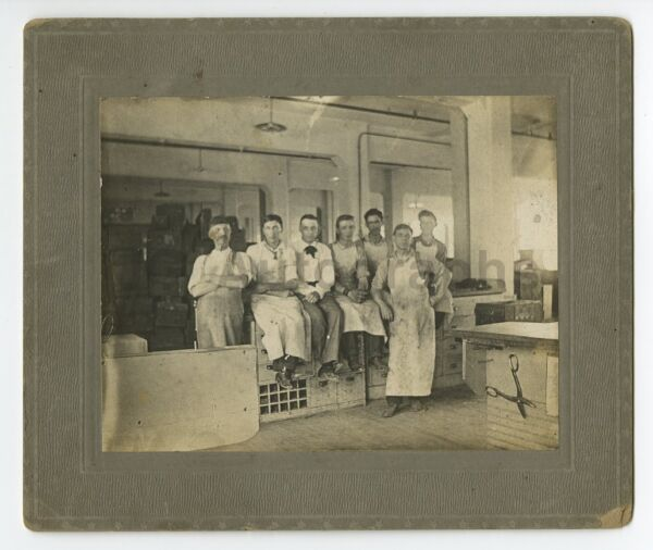 Early 20th Century Vernacular Photography - Mounted Photograph - Men in Workshop