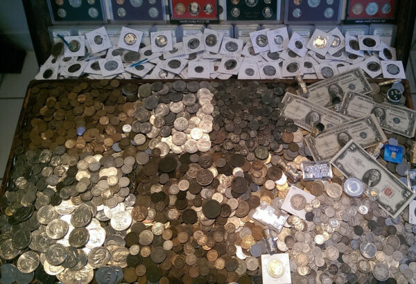 ☆ 100 Coin Lot From Old Estate Hoard ☆ GOLD .999 SILVER BULLION Proof Roman ☆