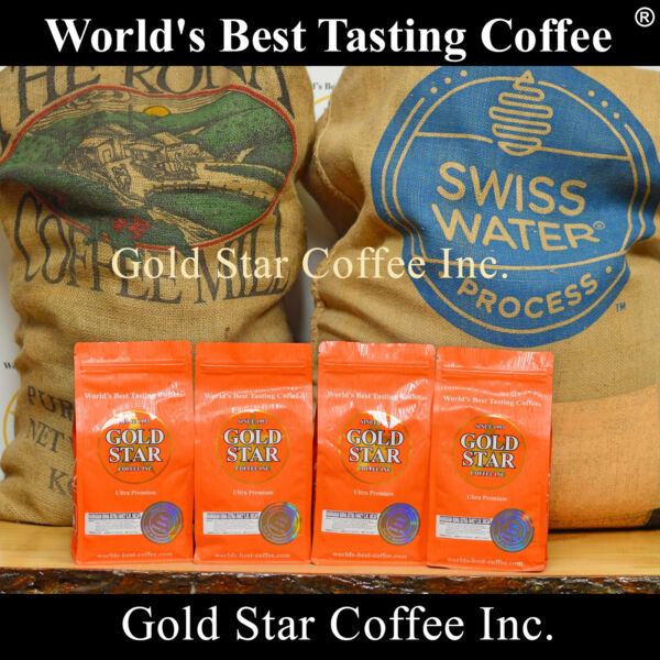 4 lb Hawaiian Kona Swiss Water Decaf coffee - Best Tasting Decaf in the world!
