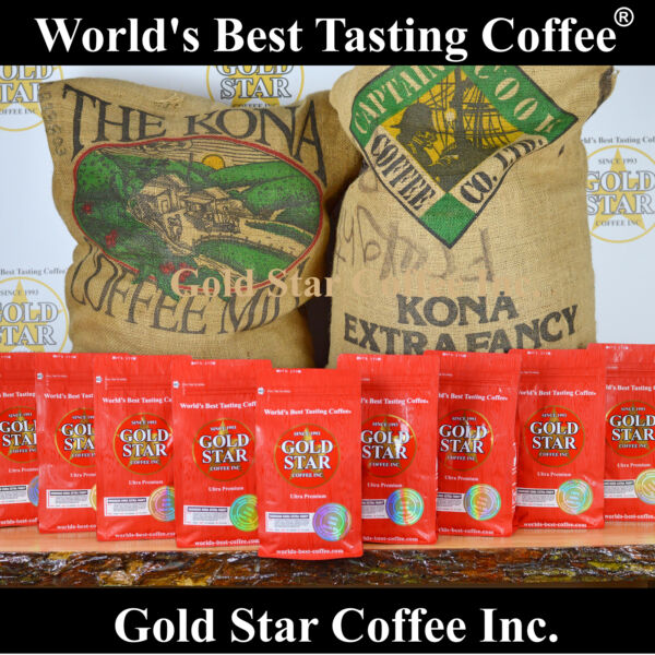 10 lb - 100% Hawaiian Kona Coffee Extra Fancy  - World's Best Tasting Coffee
