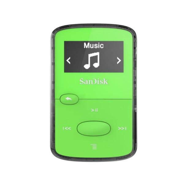 Sandisk 8GB Clip Jam MP3 Player - Green #SDMX26-008G-G46G