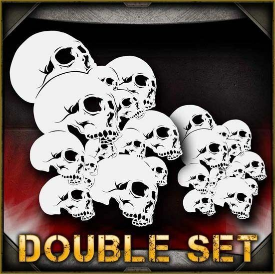 Skull Background 9 Airbrush Stencil Template Airsick