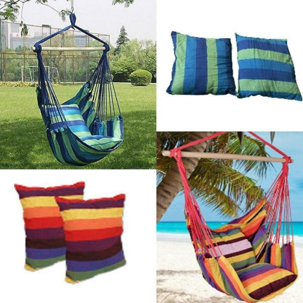 New Chair Hanging Rope Swing Hammock Outdoor Porch Patio Yard Seat Mul Colors $25.98