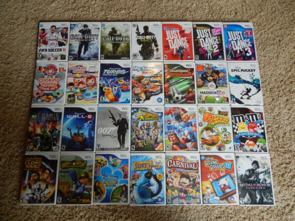 Nintendo Wii Games! You Choose from Large Selection! $5.95 Each!!!