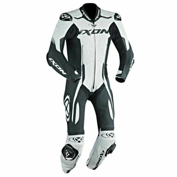 Ixon Vortex Full Race Spec One Piece Motorcycle Leathers White Sale Save £140