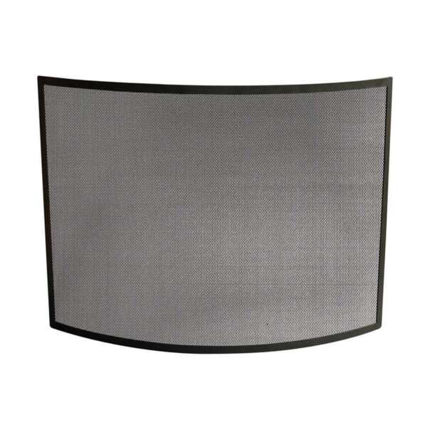 Uniflame Single Panel Curved Black Wrought Iron Screen S 1042