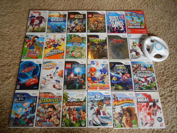 Nintendo Wii Games! You Choose from Large Selection! Many Titles! Mario, Zelda