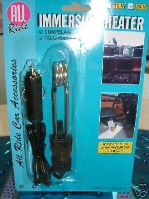 Trucker 24 Volt Water Immersion Heater for Hot Drinks