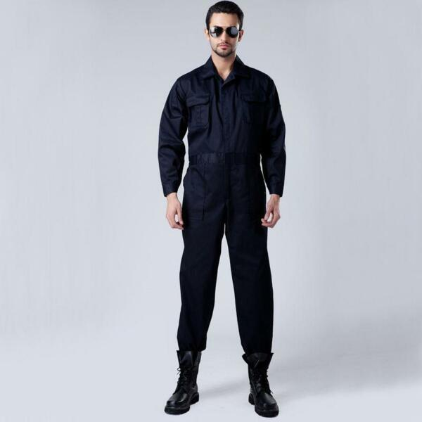 Men Long Sleeve One Piece Workwear Overalls Boilersuit Coveralls Boiler Suit Sz