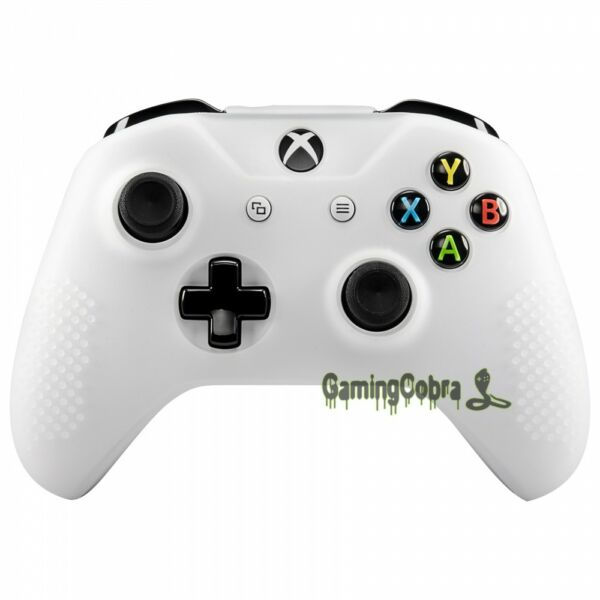 Soft Silicone Gel Grips Cover Sleeve for XBOX ONE S ONE X Controller Semi-Clear