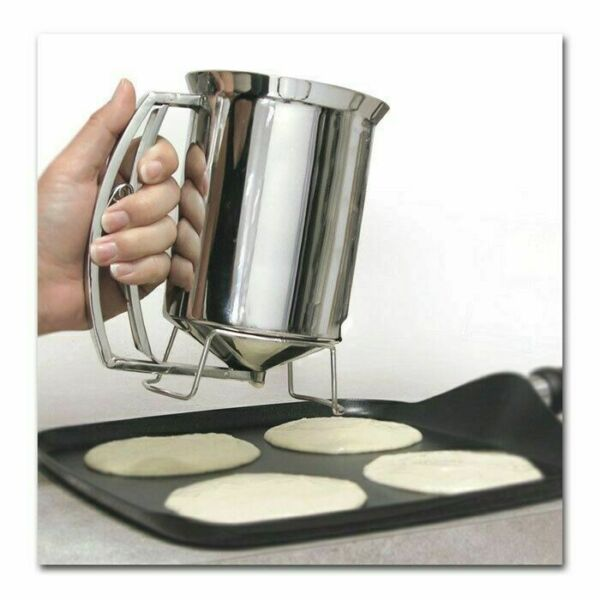 Pancake Batter Dispenser - Stainless Steel -Holds 3 Cups of Batter - Chef Buddy™