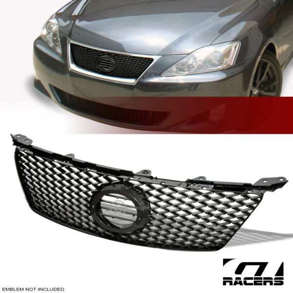 For 2006-2008 Lexus IS250IS350 Black Sport Mesh Front Hood Bumper Grill Grille