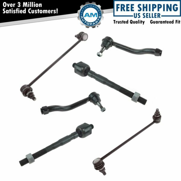 Front Tie Rod End Sway Bar Link Steering Suspension Kit Set 6pc for Altima