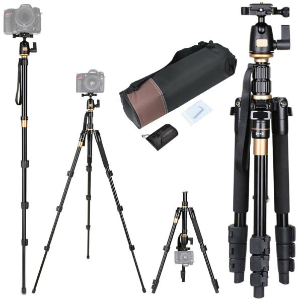 60quot; Professional Aluminium Tripod Monopod w Ball Head Travel for DSLR Camera