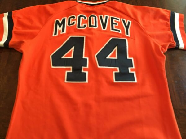 SF Giants Willie McCovey Game Worn Used Baseball Jersey MEARS 10