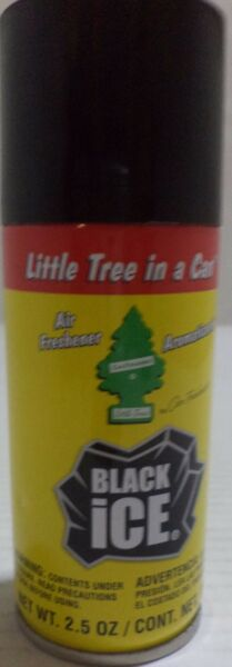 Little Tree In A Can Air Freshener Black Ice