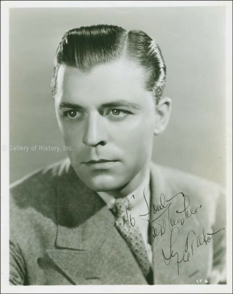LYLE TALBOT - INSCRIBED PHOTOGRAPH SIGNED CIRCA 1935