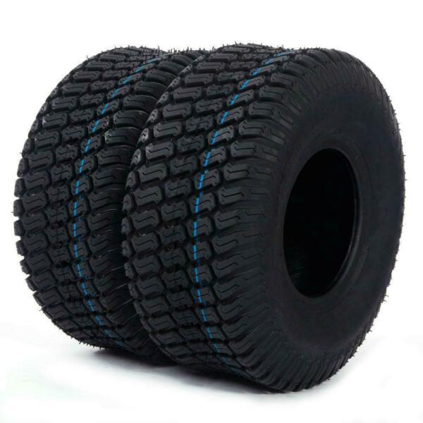 570 lbs tires Tubeless 15x6.00-6 Turf Tires Lawn Mower Tractor 4 Ply (2PCS)