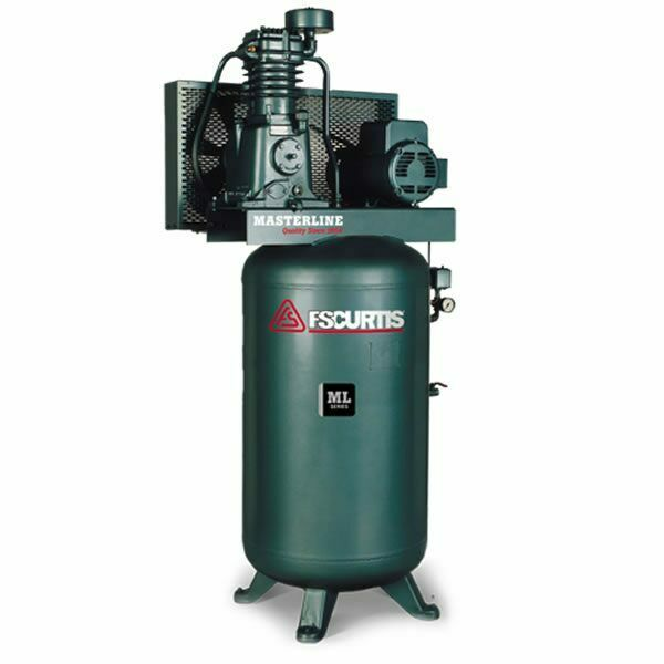 FS-Curtis ML5 5-HP 80-Gallon UltraPack Pressure Lubricated Two-Stage Masterli...