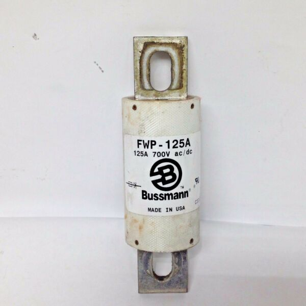 Bussmann Fusetron FWP-125A SemiConductor Fuse 125A 700V ACDC FWP 125 Amp Used