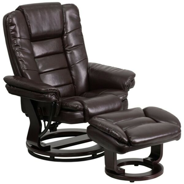 Flash Furniture Brown Bonded Leather Recliner Brown BT 7818 BN GG $414.99