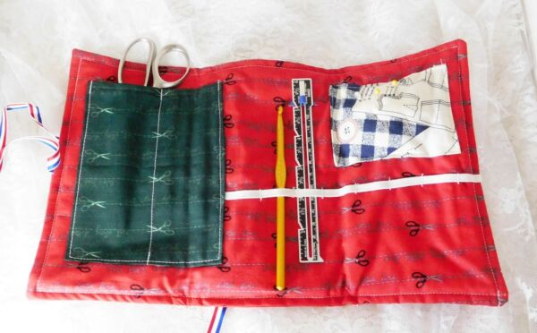Crafter's Tool Caddy - Soft Fabric - Lots of Pockets - Handmade - Take and Go!
