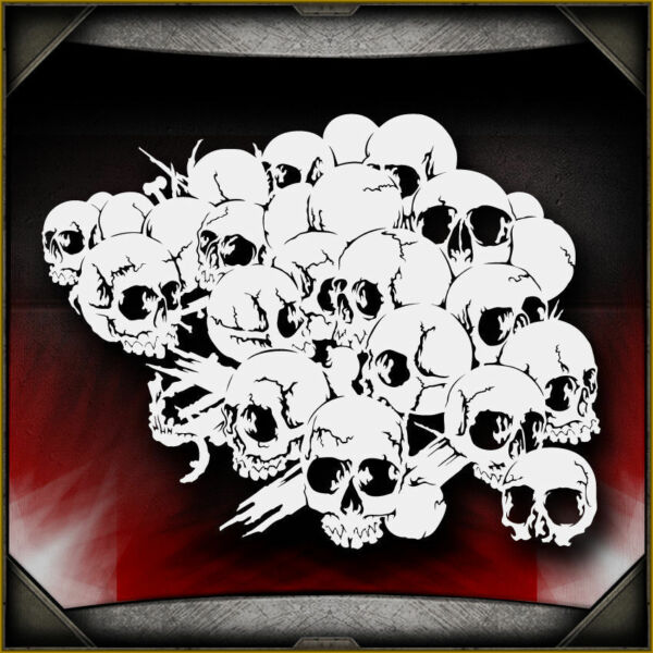 Skull Background 20 -  Airbrush Stencil Template Airsick