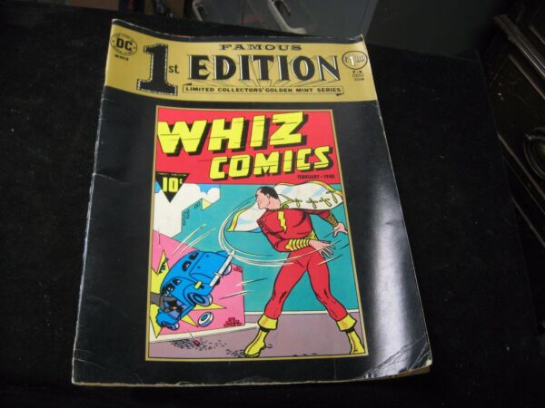 1974 Famous 1st Edition Whiz Comics Shazam Treasury Edition F 4 Vol. 1 VG