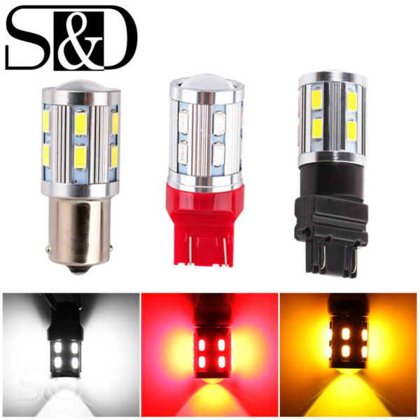 12SMD CREE XPE Super Bright Fog Tail Brake Stop Turn DRL Car LED Light Bulb Lamp
