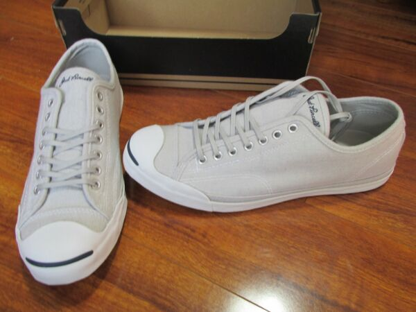 NEW Converse Jack Purcell Low Profile  LS Ox Shoes MENS 10 Grey Canvas $75.