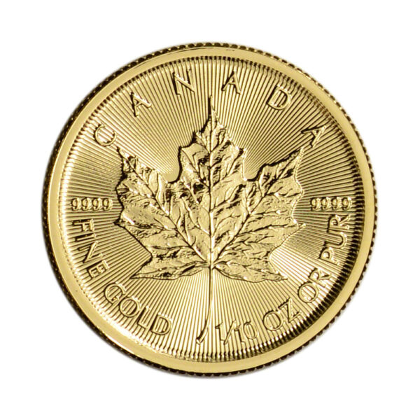 Canada Gold Maple Leaf - 110 oz - $5 - BU - .9999 Fine - Random Date