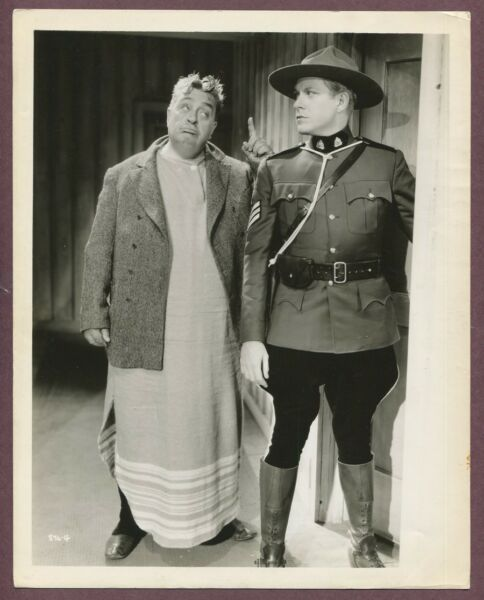 Nelson Eddy Authentic Original STAMPED Photo RCMP Mounties 1936 Marie Rose J969