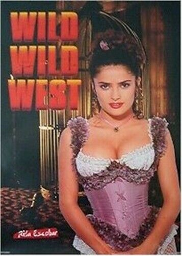 SALMA HAYEK ~ WILD WILD WEST  23x35 MOVIE POSTER ~ SEXY CLEAVAGECORSET