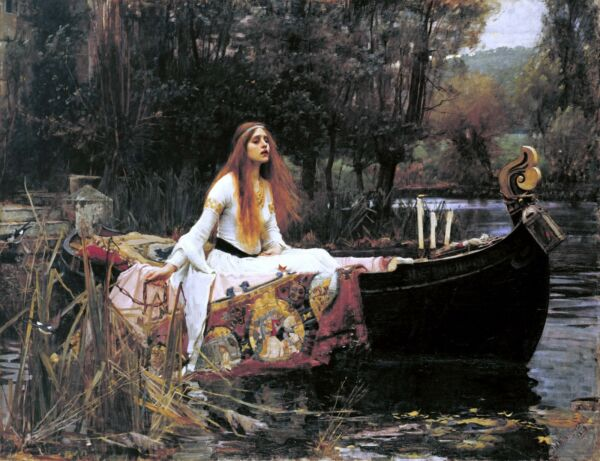 John William Waterhouse, The Lady of Shalott, Boat, antique, 20