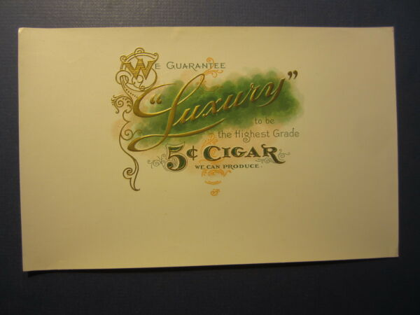Old Vintage - LUXURY - Cigar LABEL - The Highest Grade We Can Produce