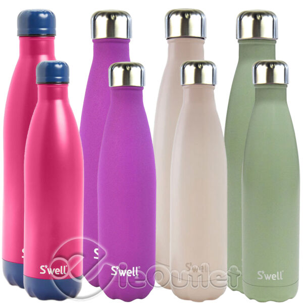 BRAND NEW SWELL S#x27;WELL VACUUM INSULATED STAINLESS STEEL WATER BOTTLE 25oz amp; 17oz