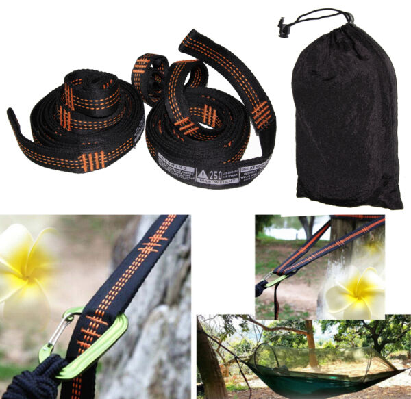 Atlas Polyester Slap Straps Suspension Hanging System for ENO Hammock 500 Pounds $13.99