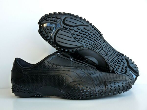 NEW PUMA MOSTRO PERF LEATHER WOMEN'S SHOES BLACK RARE ALL SIZES
