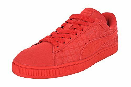 PUMA Mens Suede Classic High Risk Red/White Athletic Shoes Size 9.5 (213550)