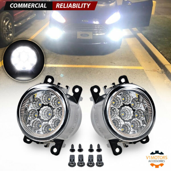1 Pair 55W 9 LED Fog Light for Ford Explorer Focus Fusion Mustang OE 4F9Z15200AA