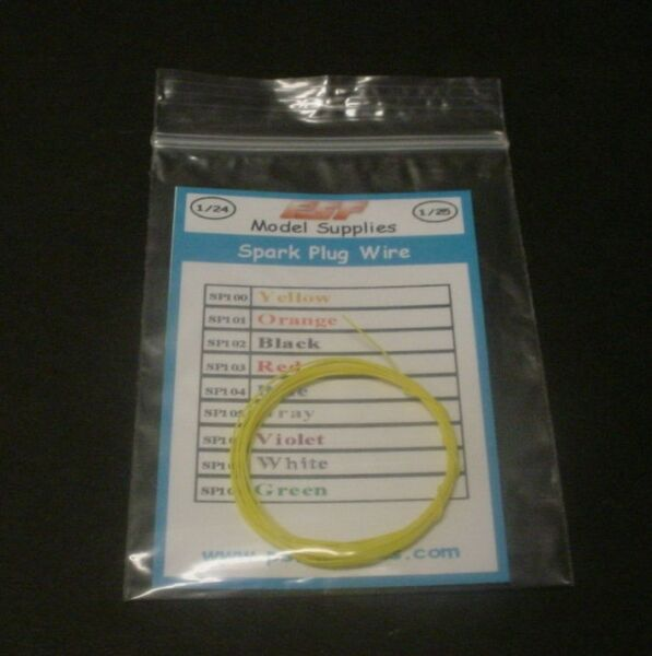 PSF HOBBIES 125 YELLOW Spark Plug Wire for Model Cars Ignition Distributor 5'