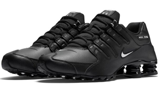 New NIKE Shox NZ Premium Running Shoes Mens black/white/black all sizes