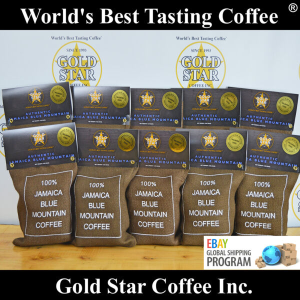 100% 10lbs Wallenford Estate DARK ROAST Jamaica Jamaican Blue Mountain WorldShip