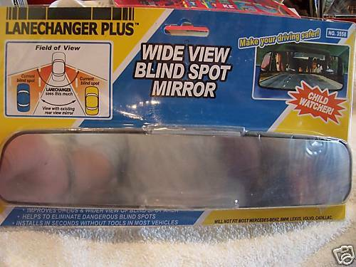 2 WIDE BLIND SPOT REAR VIEW MIRRORS FITS MOST CARS CHILD SAFETY LANECHANGER PLUS