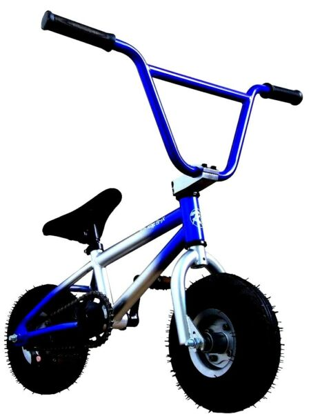2019 Pro R4 Mini BMX Bike Stunt Trick Bicycle, Custom Blue & Silver, Free Pegs
