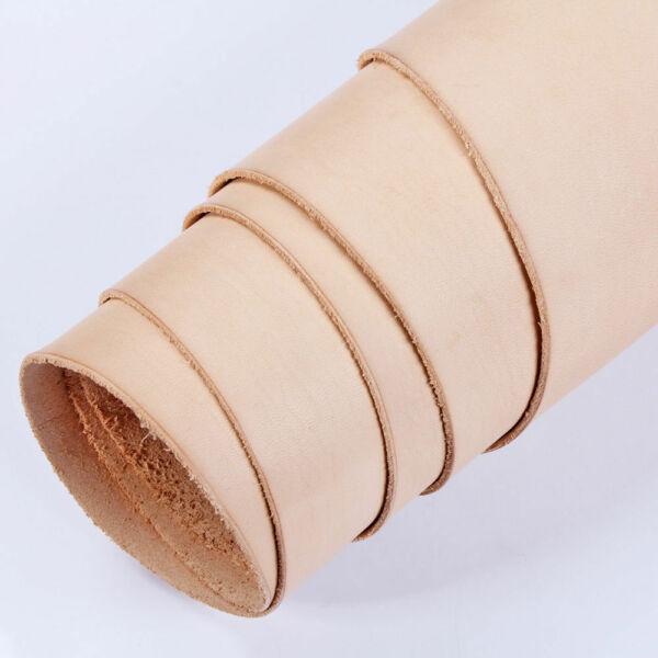 Full Vegetable Veg Tanned Natural Tan Cow Leather Shoulder 56 Oz 2-2.4MM