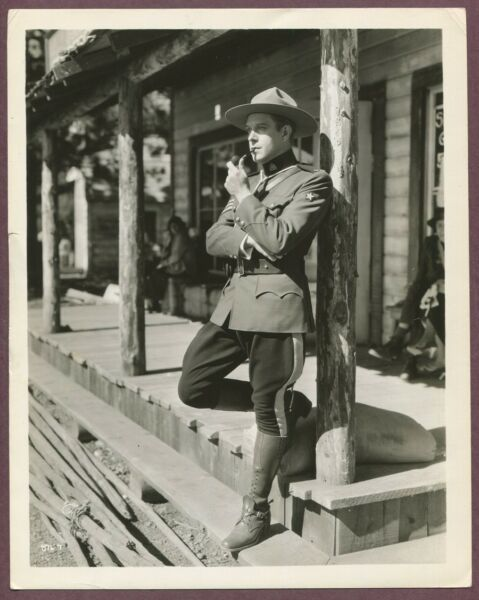 Nelson Eddy Authentic Original STAMPED Photo RCMP Mounties 1936 Marie Rose  J277