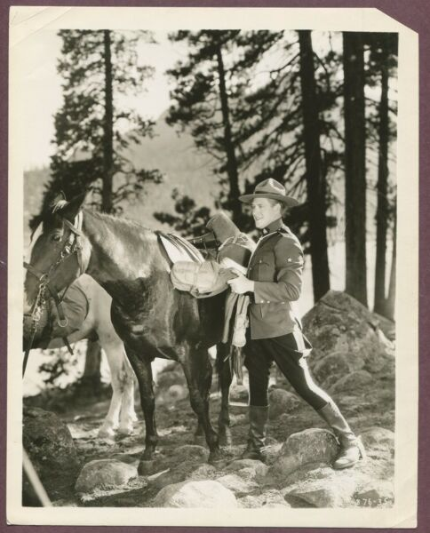 Nelson Eddy Authentic Original STAMPED Photo RCMP Mounties 1936 Marie Rose J967